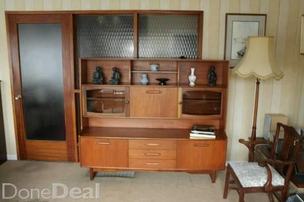 1970's Mcintosh sideboard in excellent condition with smoked glass frontage typical of the period. 180L x 154 h x 43d cm. Can deliver in Dublin for 40 euro. vintage mid century retro g plan