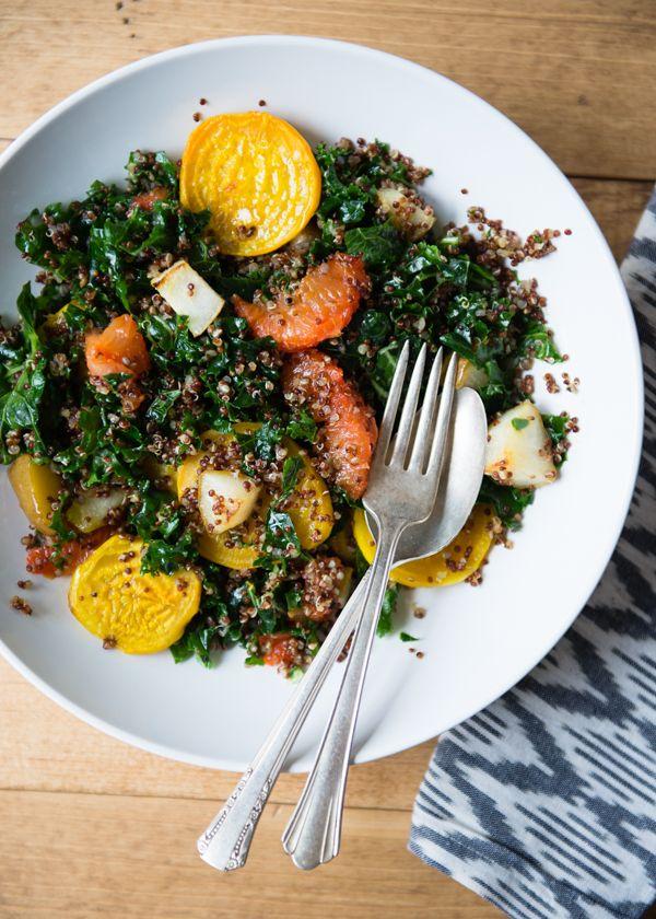 Quinoa, Grapefruit and Golden Beet Salad #healthy #recipe #salad