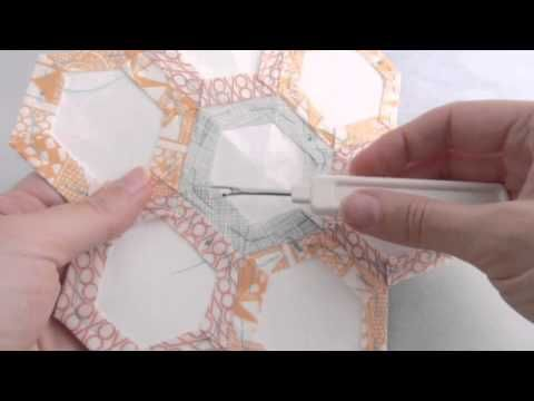 English Paper Piecing: Removing the Paper Templates