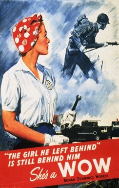 Propaganda Posters, The girl he left behind ... is a WOW worldwarII