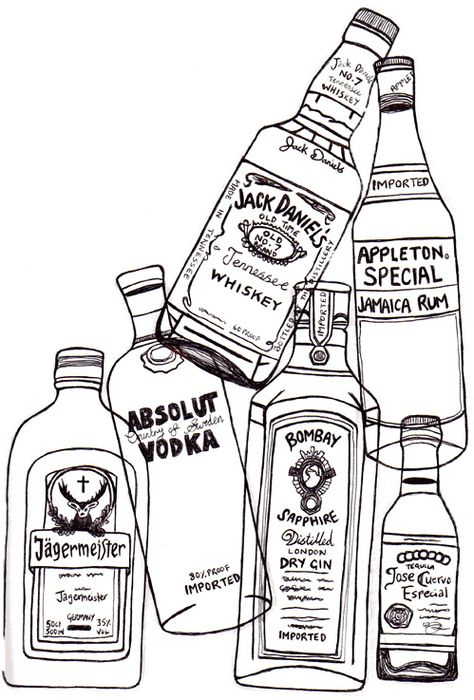 drawings of drinks