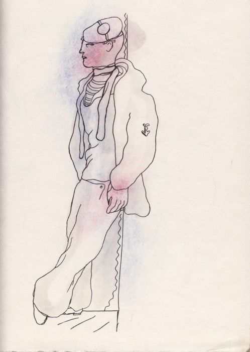 Jean Cocteau. marinheiro.