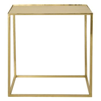 Kvadratiskt bord i guld. Finns på dekka.se.