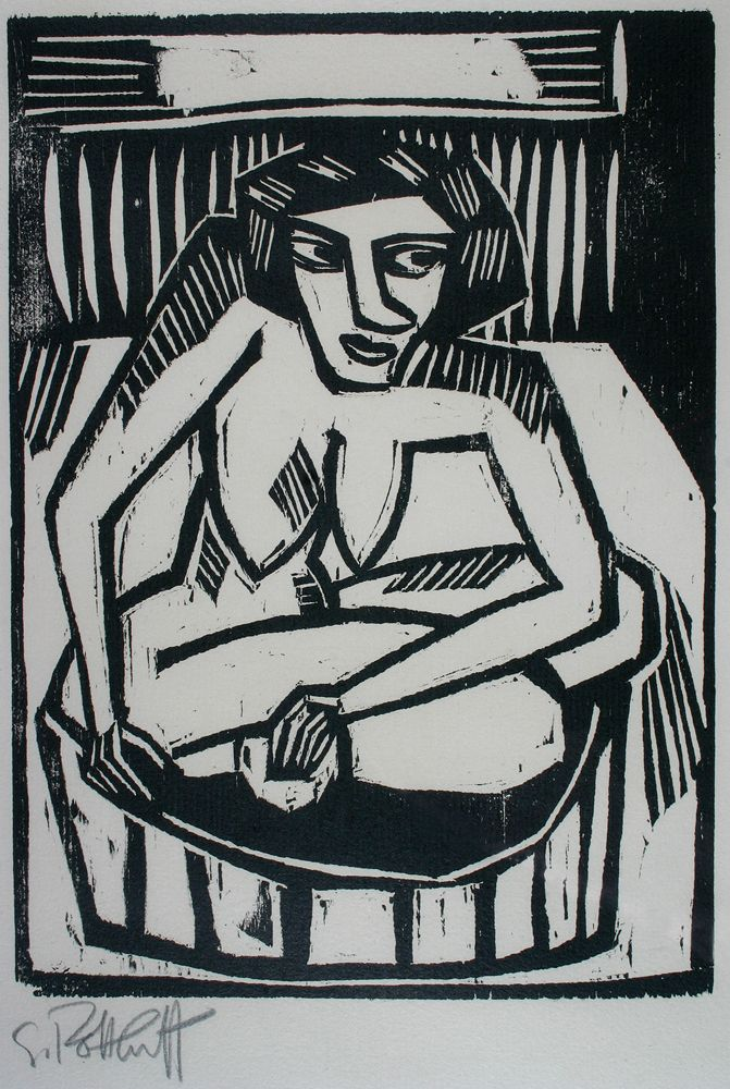 Frau in der Wanne - Karl Schmidt-Rottluff - Galerie Donohue, you can see more…