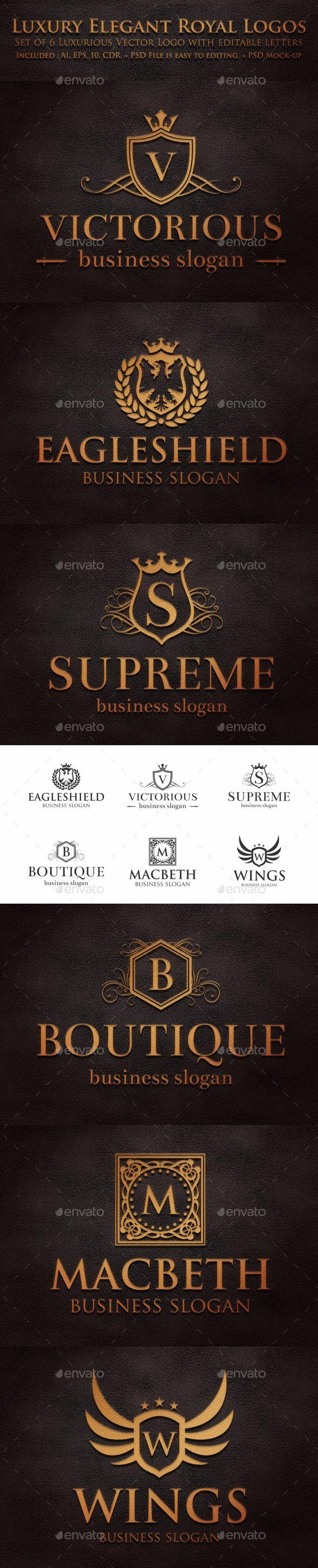 Luxury Elegant Royal Logos - Download…