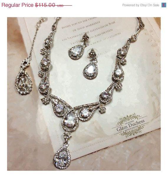 Bridal jewelry set Wedding jewelry vintage inspired by GlamDuchess