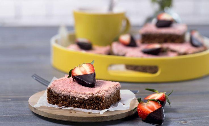 Strawberry-Cheesecake-Brownies   Rezept | Dr. Oetker