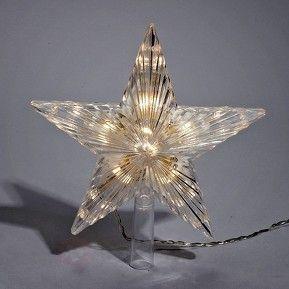 Strålande LED-julgranstopp Bolmsö, 14,5 cm