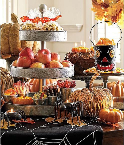 pottery barn setup fall Halloween thanksgiving pumpkin…