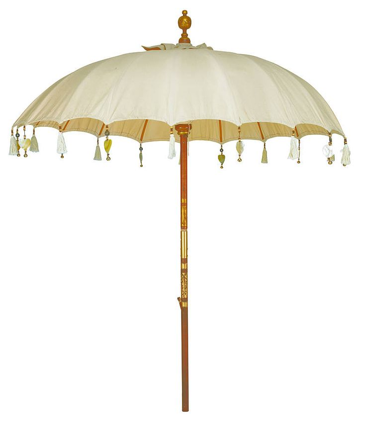 Cream Pearl Garden Umbrella In The Garden Garden