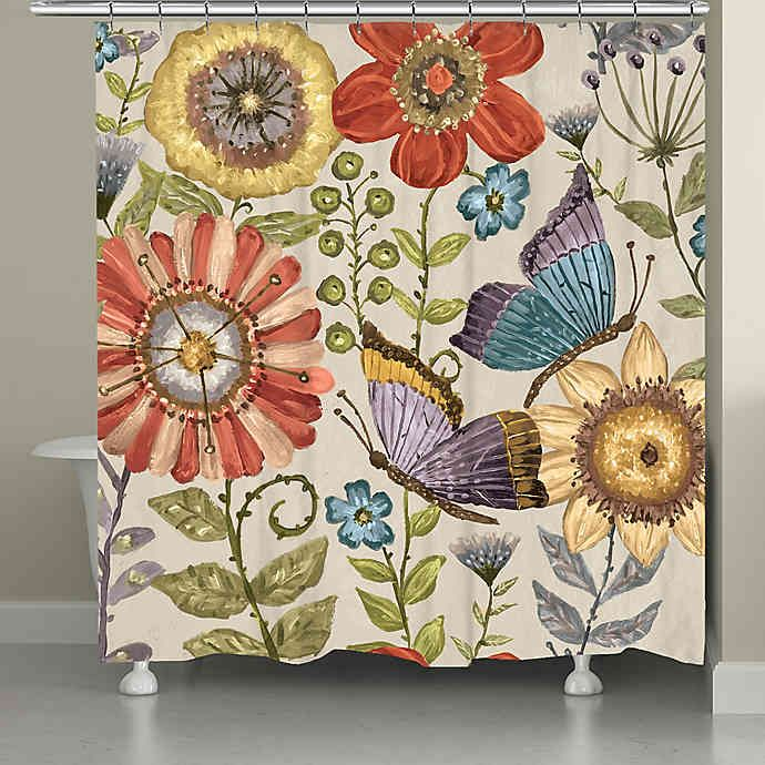 Laural Home Boho Butterfly Garden Shower Curtain In 2020