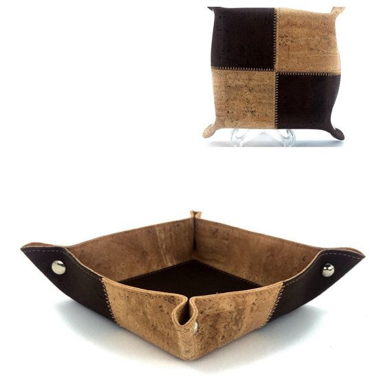 Beautiful Basket Storage, Keys, Wallets, Cork Basket,-FREE SHIPPING-,Basket Keys, Basket Wallets, Eco Friendly, Vegan Product.