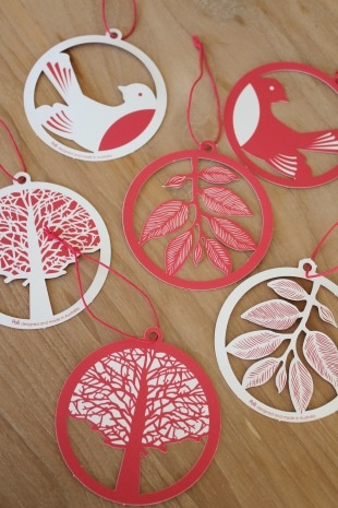 eco paper Christmas decorations from www.polli.com.au