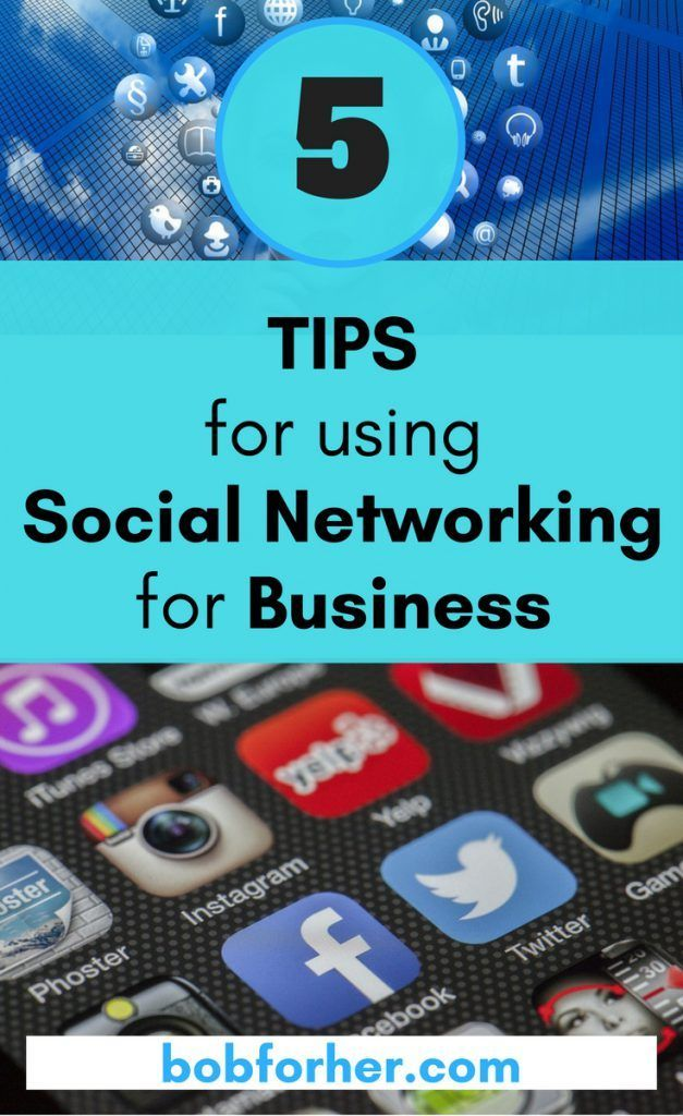 5 Tips for using Social Networking for Business - bobforher.com  We can all use some pointers when it comes to growing our social network accounts. In this article, I will show you 5 tips using social networking for business.  With the constant changes in mind, I'm specifically talking about Facebook and Pinterest. It's a good idea to stay on top of things.  I've created a list of a few of my preferred social media suggestions, all in one place.  #socialmedia #pinterestgrowth…