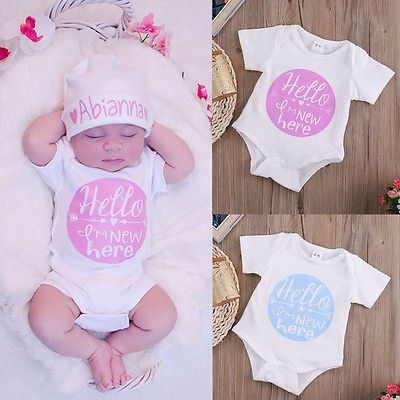 2016 Casual Toddler Kids Baby Girl Boy Clothes Bodysuit Jumpsuit Outfits 0-12M