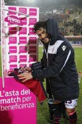 Maglia indossata da Panagiotis Kone durante Bologna Vs Chievo Verona 4 - 0 (gol di Kone al 13')
