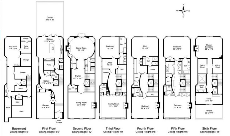 18 century victorian house plans for Victorian townhouse plans