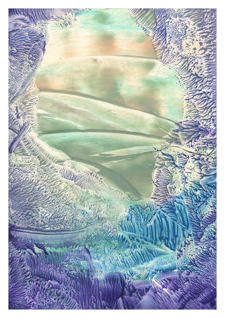♪♪ Pleasant Valley Sunday .. ♪♪ Encaustic art wax fantasy landscape painting.