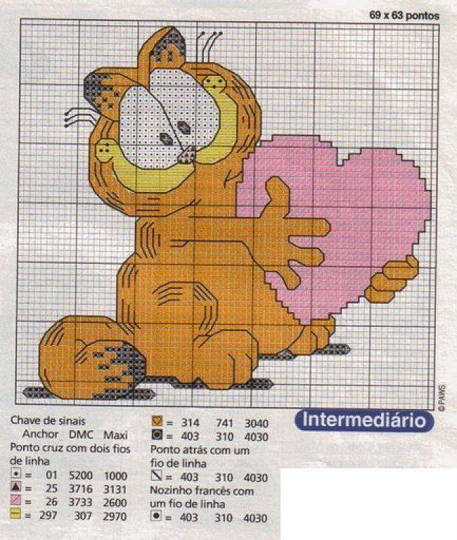 patrones punto de cruz solo felinos (pág. 6) | Aprender manualidades es facilisimo.com
