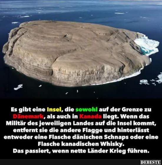 Es gibt eine Insel, die sowohl af der Grenze zu D…