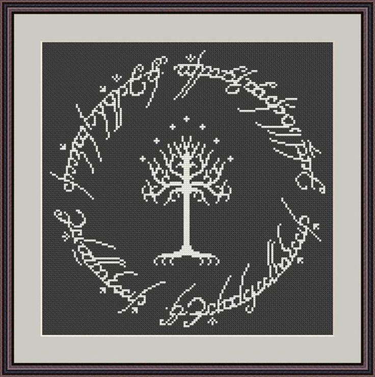(10) Name: 'Embroidery : Hobbit Cross Stitch Pattern