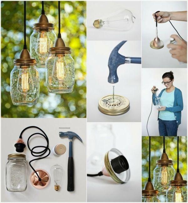DIY-Projekte: DIY Make Mason Jar Lights von Billie Dasinger