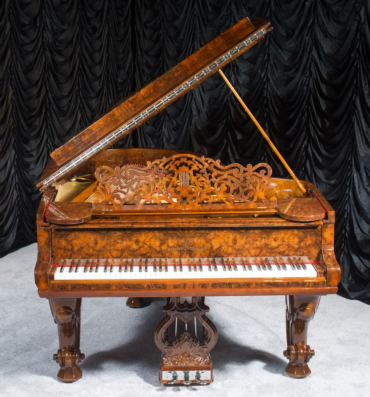 Steinway Exotic Burl Wood Model A Grand Piano The