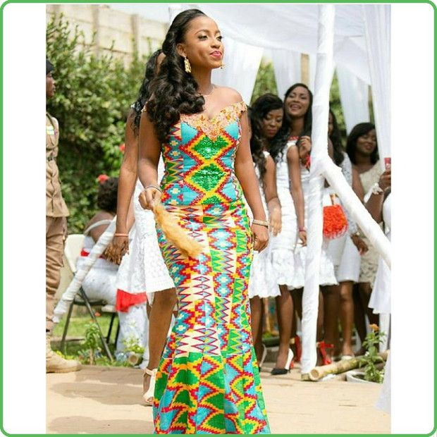Iya Wedding Gown: Ghanaian And Kente Fashion Styles Images