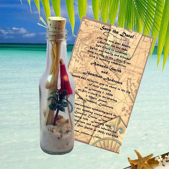 Palm Paradise Message In A Bottle van InvitationInABottle op Etsy