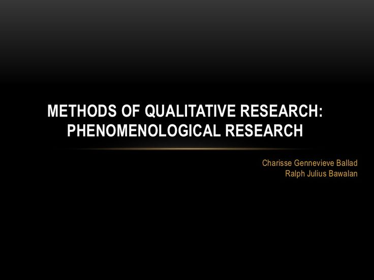 phenomenology research method