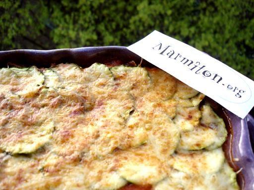 Parmentier de courgettes - Recette de cuisine Marmiton : une recette