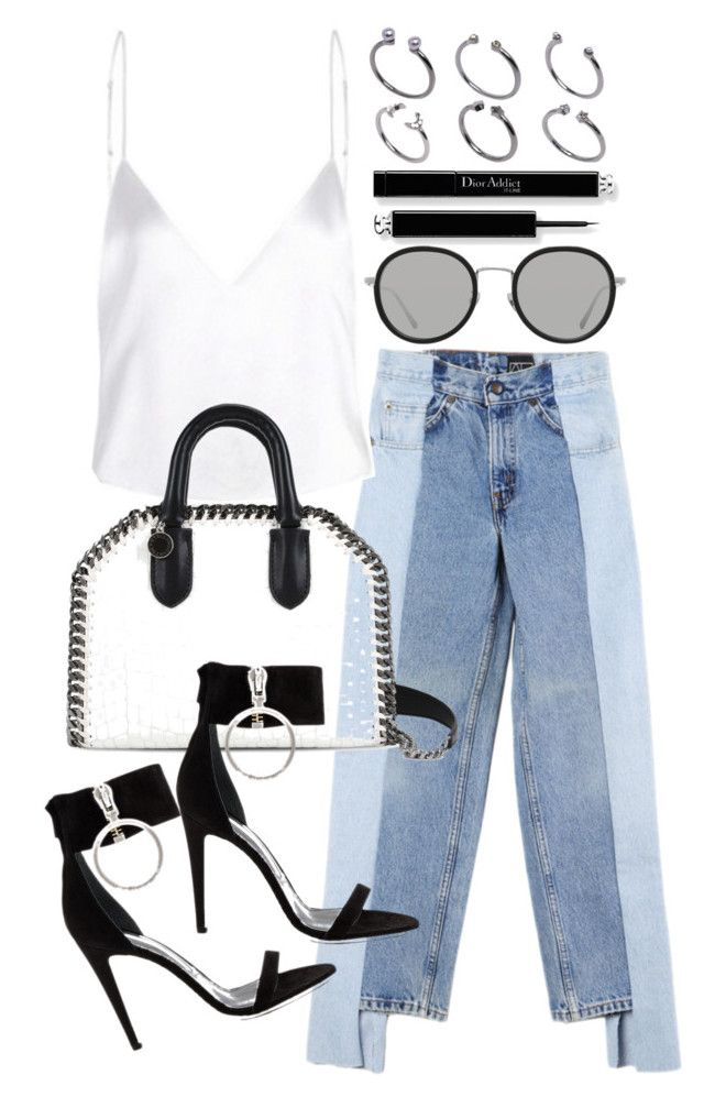 """""""Untitled #21101"""" by florencia95 ❤ liked on Polyvore featuring Alxvndra, STELLA McCARTNEY, Off-White, Linda Farrow and ASOS"""