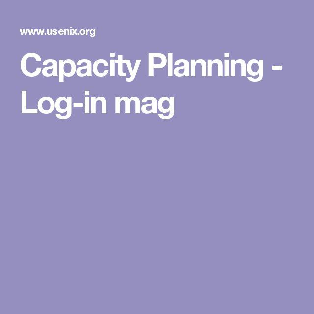 Capacity Planning - Log-in mag