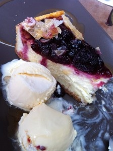 Adore this cheesecake with Cocoluscious Icecream (dairy-free) from Cardamon Pod.  Yum!!