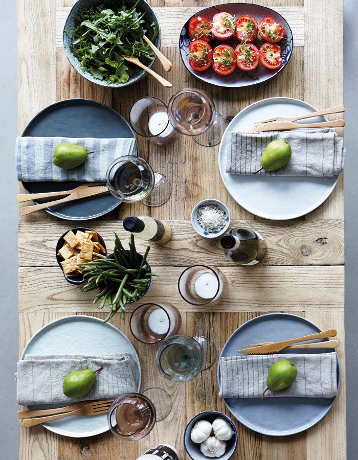 Kameninový talíř šedý velký / kitchenette shop
