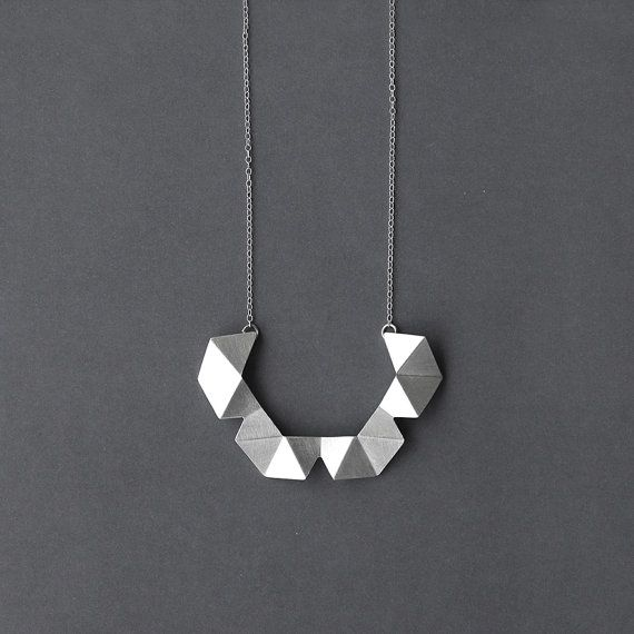 Geometric Chain Necklace Sterling Silver Chain by RawObjekt