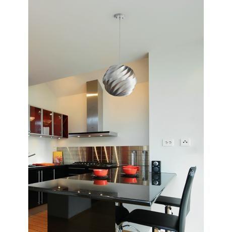 Silver Pendant Lighting Room Design