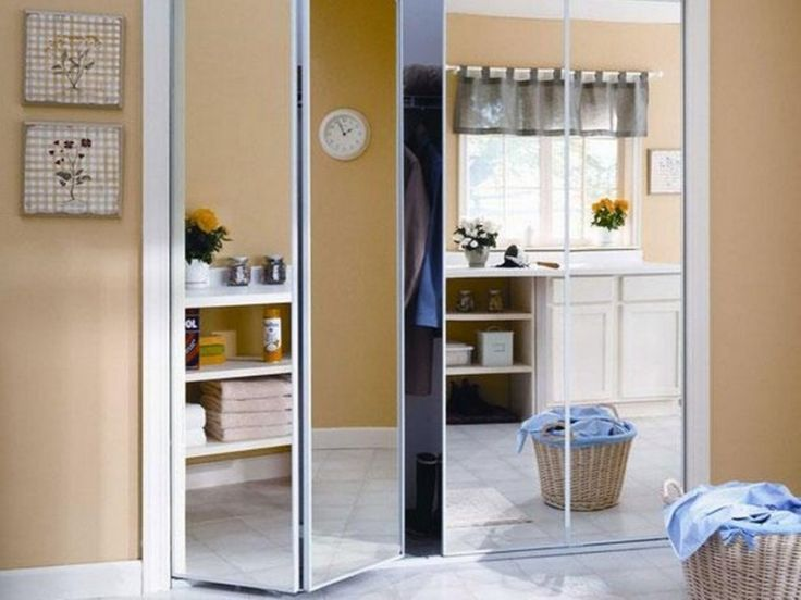 mirrored sliding closet doors makeover