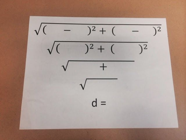 Easy way to practice distance & midpoint formulas.