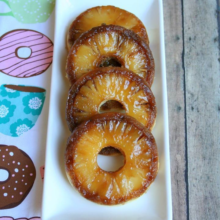 Pineapple Upside Down Cake Donuts by Jennifer Baker for I Spy Le ...