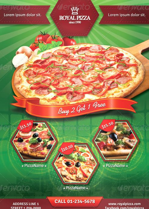 21 best best pizza restaurant flyer psd templates images for Pizza sale flyer template