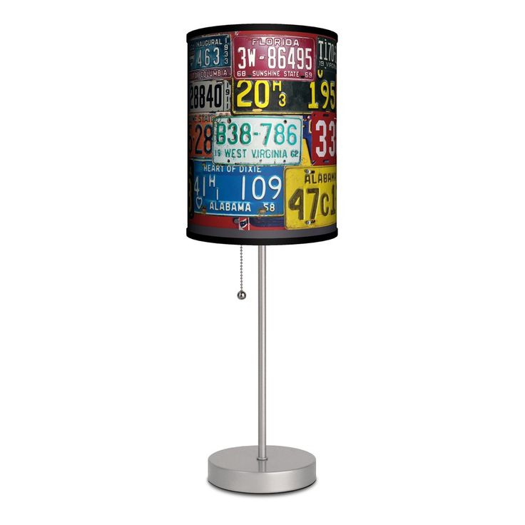 Honk if you're licensed to style! This vintage license plate table lamp is the perfect finishing touch for your man cave, craft room or bedroom, and its slim profile allows it to fit just about anywhe