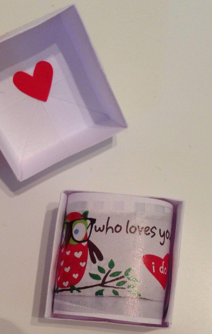 Origami Schachtel mit Liebesnachricht - loveletter in origamibox :-)