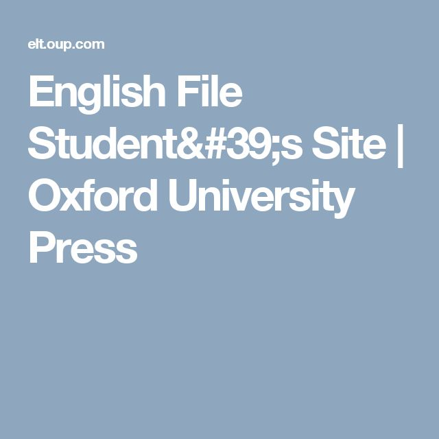 English File Student's Site | Oxford University Press