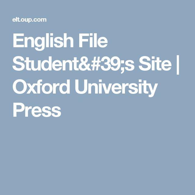 English File Student's Site   Oxford University Press