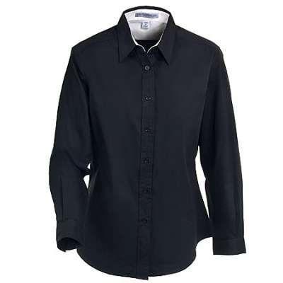 Port Authority Shirts: Women's Black Easy Care Woven Shirt L608