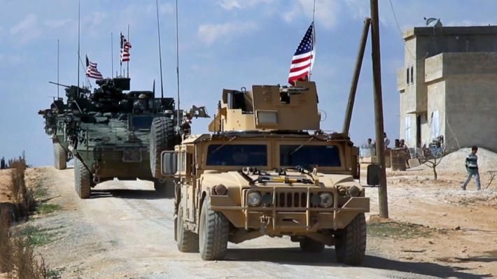 Αμερικανικές δυνάμεις στην πόλη Μανμπίτζ της Συρίας