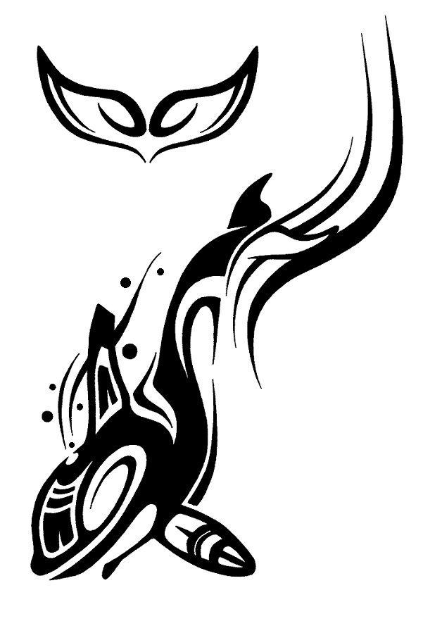 Dltd Tribal Orca By Shadowkira On Deviantart Whale Tattoos Orca Tattoo Whale Tail Tattoo