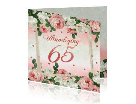 Uitnodiging 65ste vintage rozen