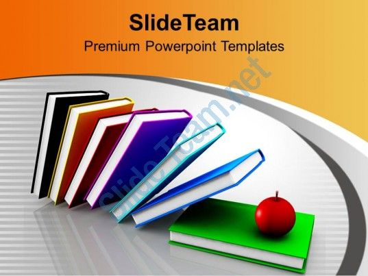 books and apples together future powerpoint templates ppt themes and graphics 0313 Slide01